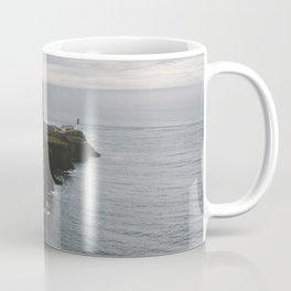 Neist Point Lighthouse at the Atlantic Ocean - Landscape Photography Coffee Mug