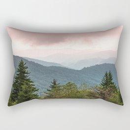 Great Smoky Mountain National Park Sunset Layers III - Nature Photography Rectangular Pillow