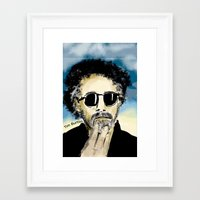 tim burton Framed Art Prints featuring Tim Burton by Joanie L. Posner (jppozzy)
