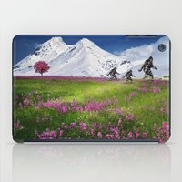 bigfoot iPad Cases featuring Bigfoot Mountain Meadow by D.A.S.E. 3