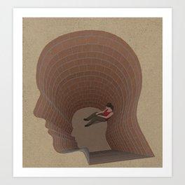 Mind pit Art Print