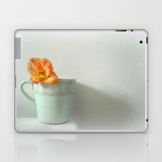 Tangerine Dream ~ orange flower ~ aqua  Laptop & iPad Skin
