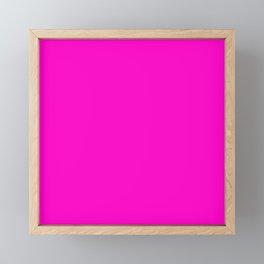 Fluorescent neon pink   Solid Colour Framed Mini Art Print