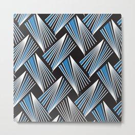 African Tribal Pattern No. 61 Metal Print