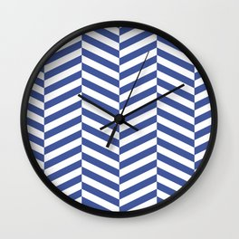 Classic blue chevron Wall Clock