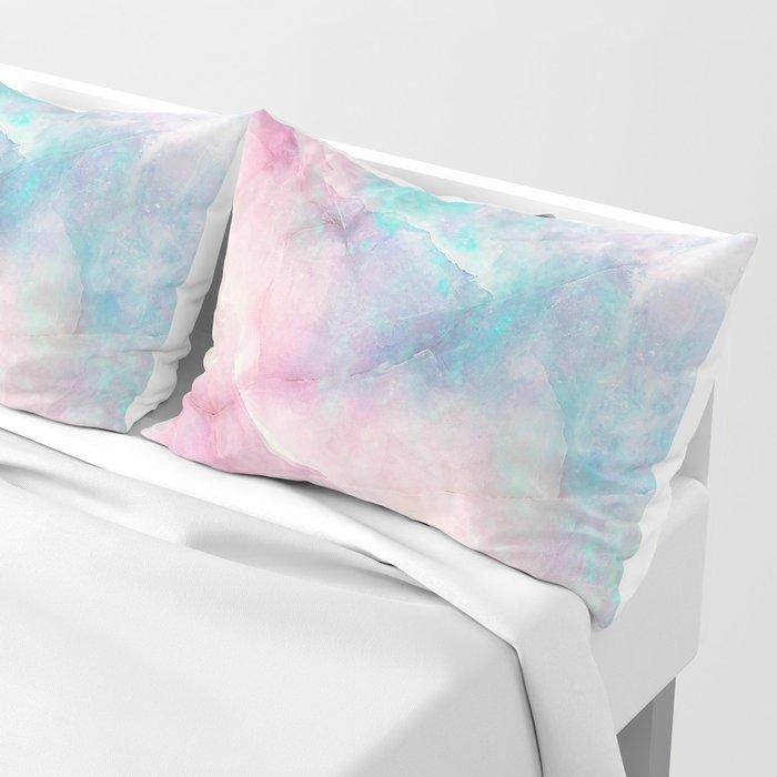 Iridescent marble Pillow Sham