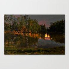 Glimmering Pond Canvas Print
