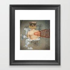 Super Ju Jitsu Liquid Silver Framed Art Print