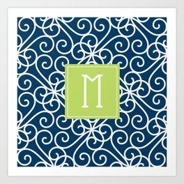 Monogram Shower Curtain Art Print