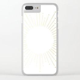 Mod Sunburst Gold 2 Clear iPhone Case