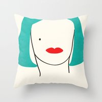 Teal Ambition Throw Pillow