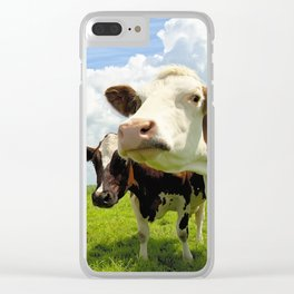 Four chatting cows Clear iPhone Case