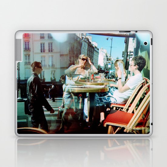 Cafe Arsenal, Paris (Double Exposure) Laptop & iPad Skin