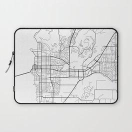 Kelowna Map, Canada - Black and White  Laptop Sleeve
