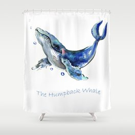 Whale Artowrk, Humpback Whale Shower Curtain