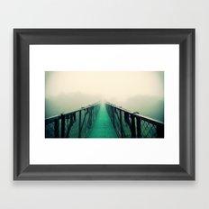 suspension bridge Framed Art Print