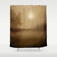 aelwen Shower Curtains featuring From the morning by Viviana Gonzalez