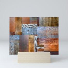 Reclaimed Wood Collage 4.0 Mini Art Print