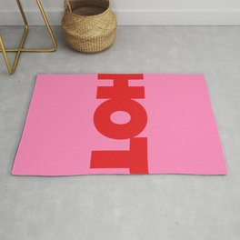 HOT | Typography | Red on Pink Rug