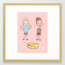 The Beavis and The Butthead Framed Art Print