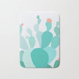 Watercolor of cacti IX Bath Mat