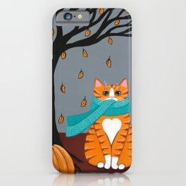 Autumn Ginger Cat iPhone Case