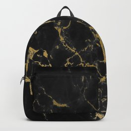 Black Gold Marble Backpack