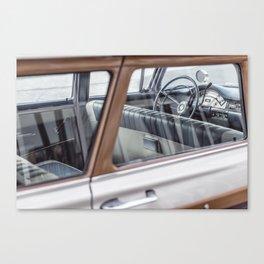 Vintage car brown 4 Canvas Print