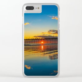 The Sky on the Sand Clear iPhone Case