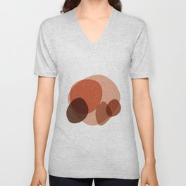 Elementary Formations 03 - Contemporary, Minimal Abstract Unisex V-Neck
