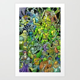 Teenage Mutant Ninja Turtles Shell Shocked Art Print