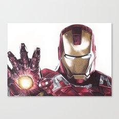 Iron Man Pen Drawing Canvas Print