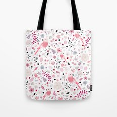 Rose birds Tote Bag