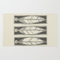 ethnic Area & Throw Rugs featuring Ethnic Feathers by rob art | simple