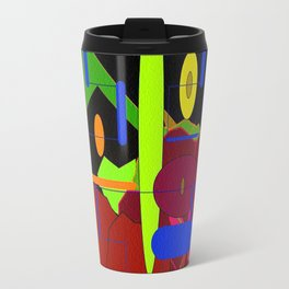 Vivid Multi Geometry Travel Mug