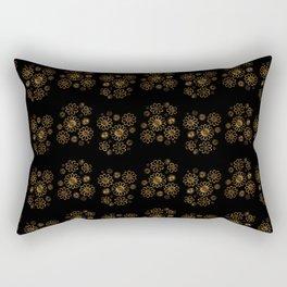 Art Deco Flower Pattern Rectangular Pillow