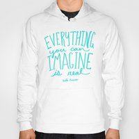 picasso Hoodies featuring Picasso: Imagine by Leah Flores