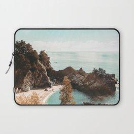 California Coast   Big Sur McWay Falls Coastal Camping Road Trip Tapestry Art Print Laptop Sleeve