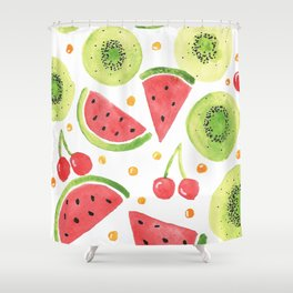 Summer Fruit Punch Shower Curtain