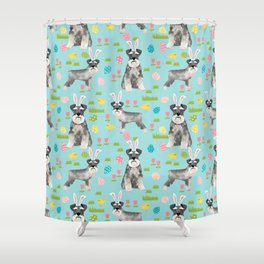 Schnauzer easter costume spring easter bunny pure breed dog pattern gifts Shower Curtain