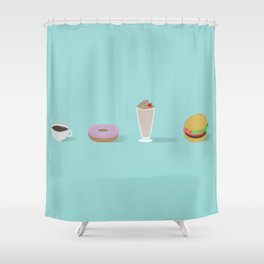 Diner Foods Shower Curtain