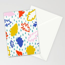 Colorful Leaves large scale Stationery Cards