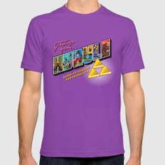 Greetings from Hyrule SMALL Mens Fitted Tee Ultraviolet