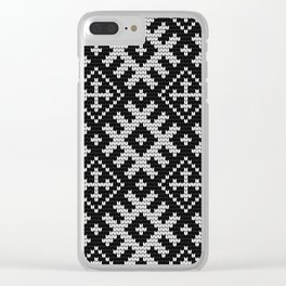 Pattern in Grandma Style #23 Clear iPhone Case