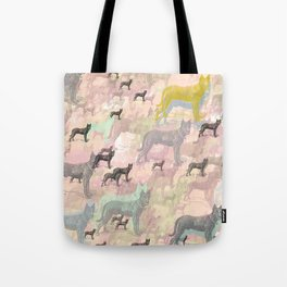 Sky Dogs - Abstract Geometric pink mauve mint grey orange Tote Bag