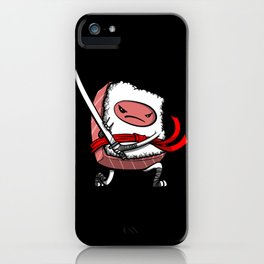 Sushi Ninja Samurai Japanese Food iPhone Case