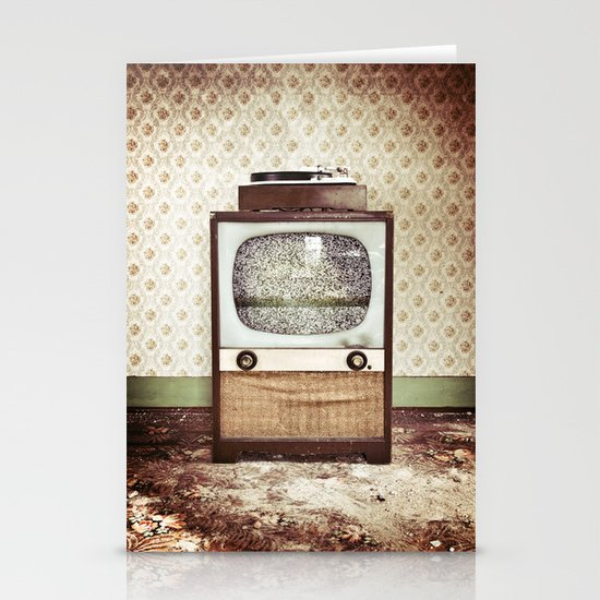Vintage Entertainment Center Stationery Cards
