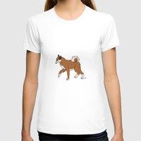 shiba T-shirts featuring Shiba Inu by RoseArtStudios