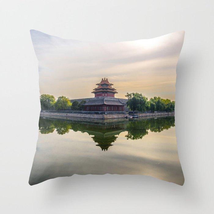 Forbidden City moat Throw Pillow