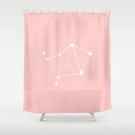 Libra Star Sign Soft Pink Shower Curtain